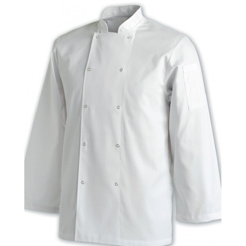 CHEFS UNIFORM JACKET LAUNDRY COAT LONG - X-SMALL - 1