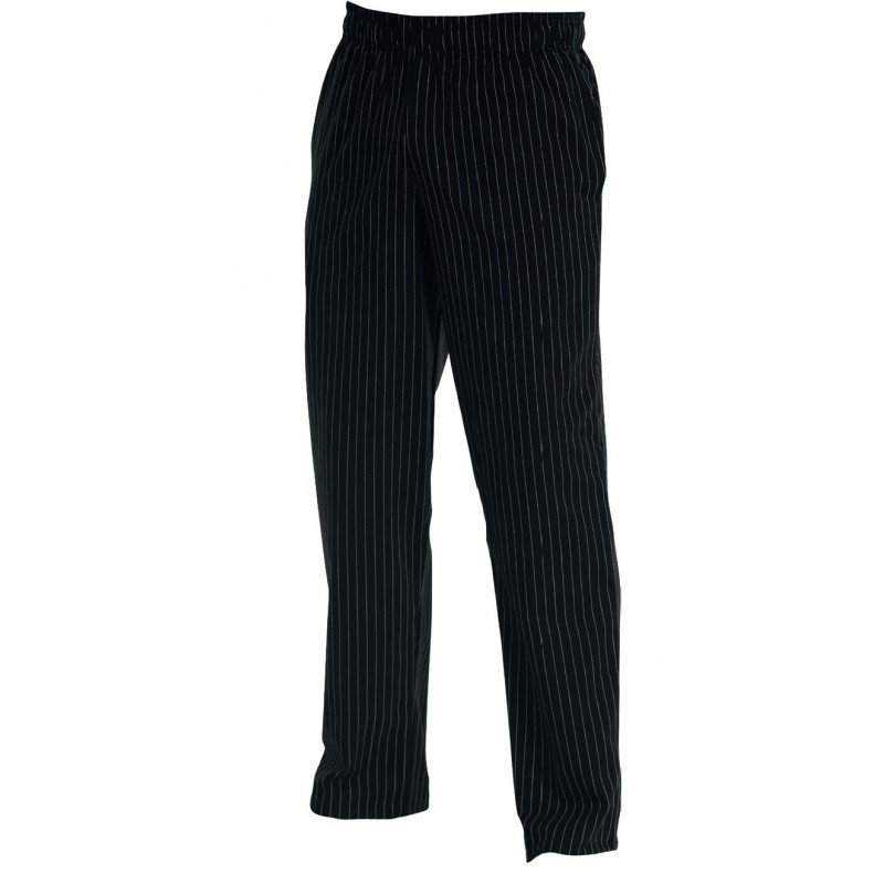 CHEFS UNIFORM -BAGGIES BLACK - X - SMALL - 1