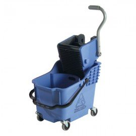 NUMATIC PLASTIC BUCKET & WRINGER - BLUE - DUAL COMPARTMENT - 1