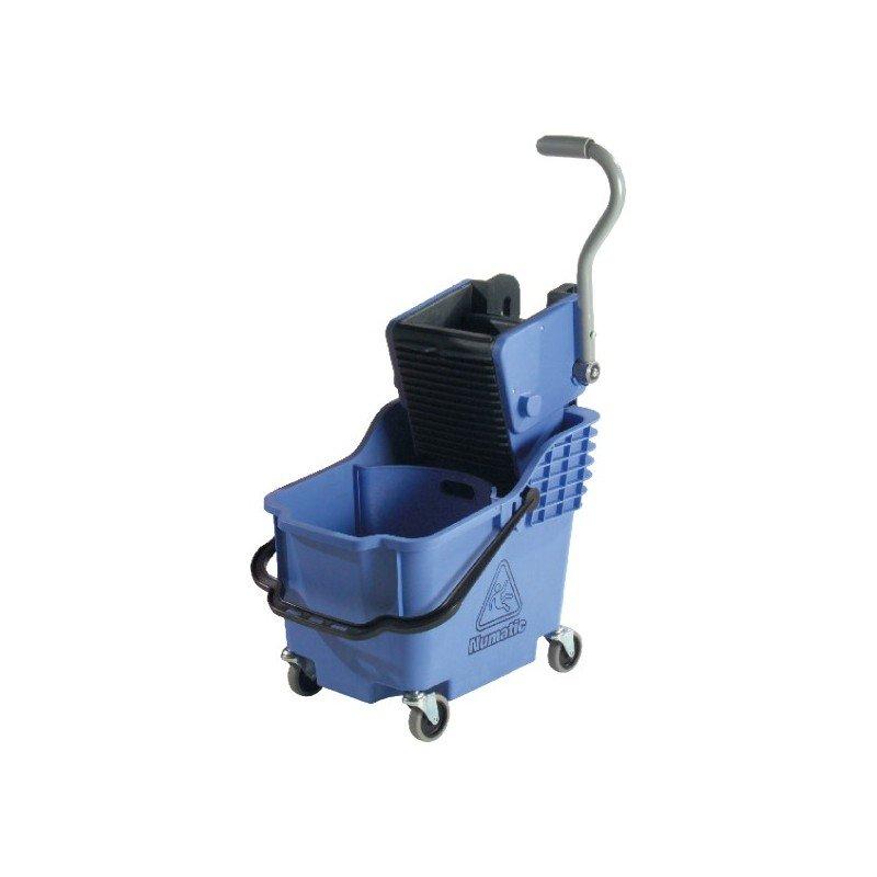 NUMATIC PLASTIC BUCKET & WRINGER - BLUE - DUAL COMPARTMENT - 1