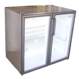 BACK OF BAR FRIDGE - DOUBLE SWING GLASS DOOR - 263L - 1