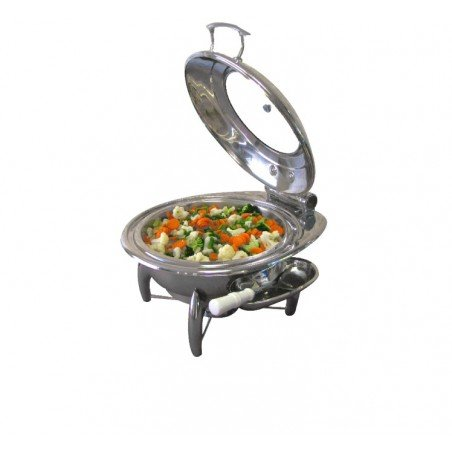 CHAFING DISH INDUCTION - ROUND WITH GLASS LID - 1