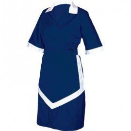 LADIES HOUSEKEEPING 3PC - NAVY AND WHITE XSMALL - 1