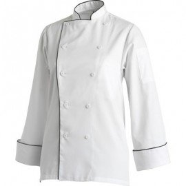 CHEFS UNIFORM  FULL BIB APRON BUTCHERS BLUE STRIPE