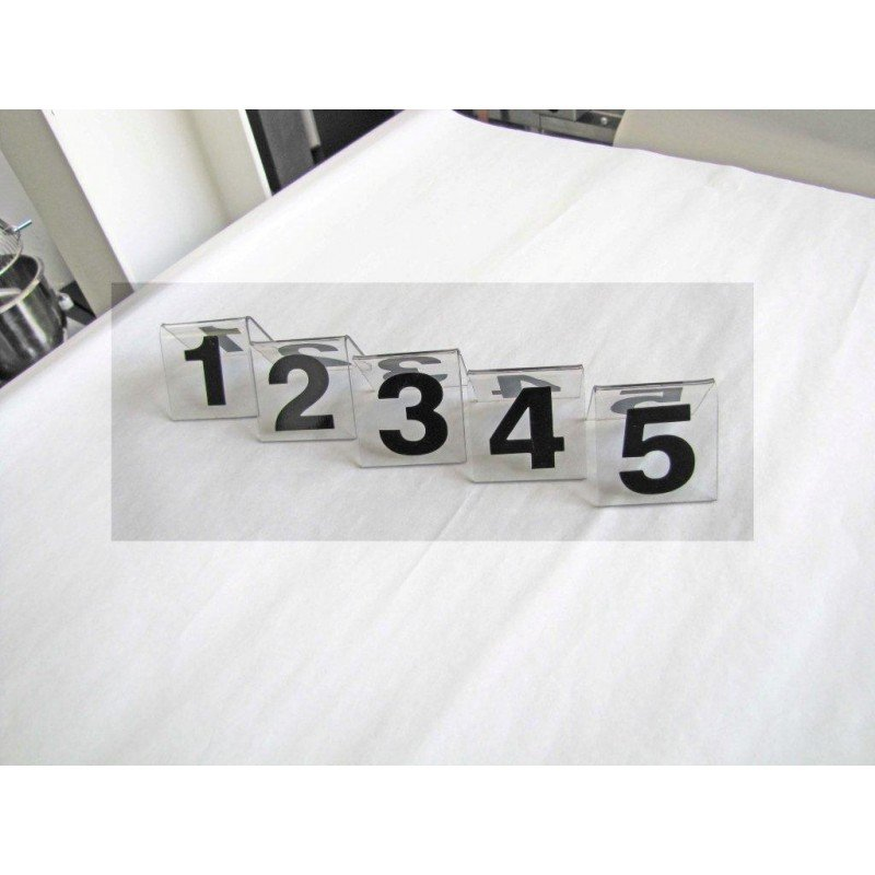 PLASTIC TABLE NUMBER STAND 1-10 - 1