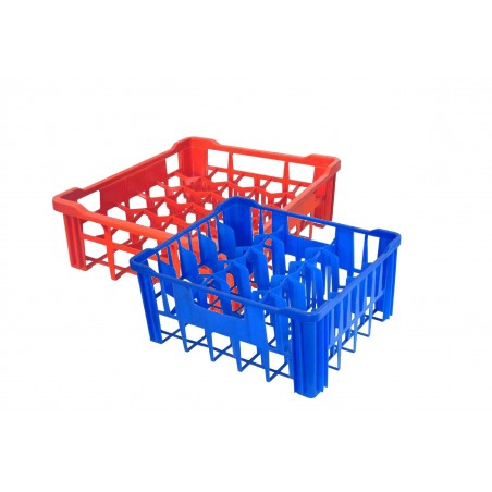 GLASS CRATE LARGE - 30 GLASSES - BLUE - 1