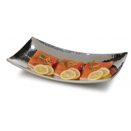 S/STEEL CURVED TRAY - 300 X 175mm - 1