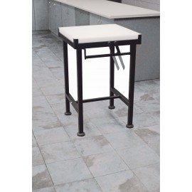 BUTCHER BLOCK STAND  MILD STEEL