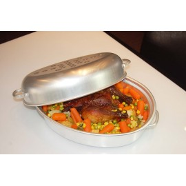 ALLUMINIUM SMALL OVAL ROASTER - 210 x 300 x 140mm
