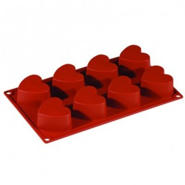 SILICONE MOULD FORMAFLEX 6 PORTION HEART