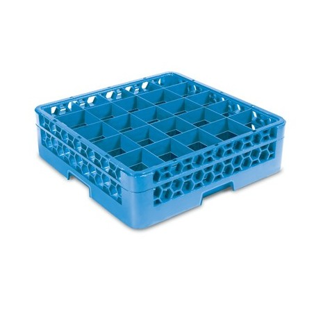 GLASS RACK - 25 COMPARTMENT (BLUE) - 1