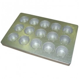 BAKING TRAY ALUSTEEL - JUMBO MUFFIN 15 CUP 600 x 400mm - 1