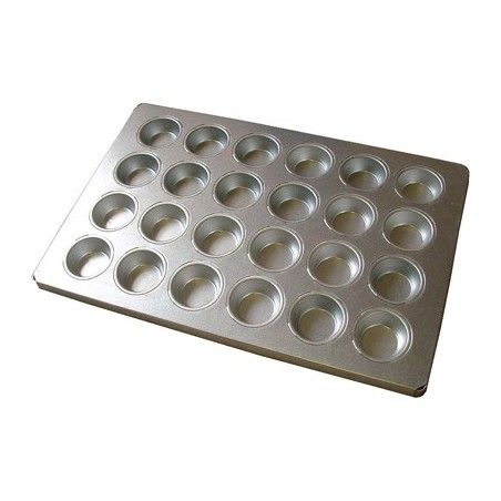BAKING TRAY ALUSTEEL - REGULAR MUFFIN 24 CUP 600 x 400mm - 1