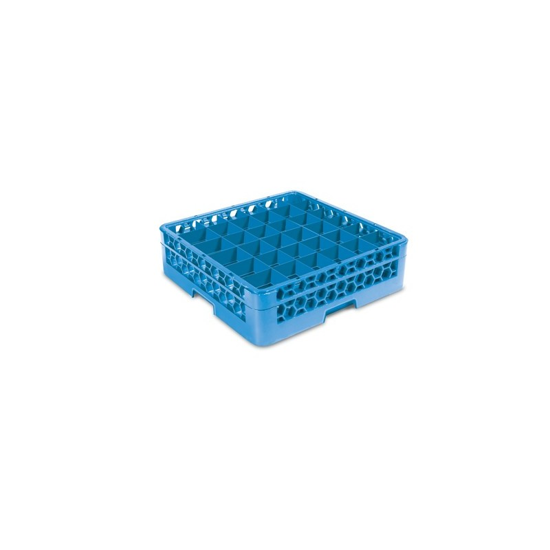 GLASS RACK - 36 COMPARTMENT (BLUE) - RACK ONLY