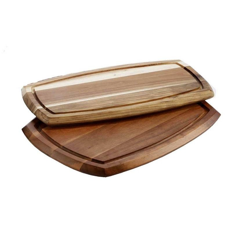 WOODEN SERVING BOARD WITH DIP BOWL (70ml BOWL) 180 x 362 x 20mm - 1