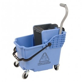 NUMATIC PLASTIC BUCKET & WRINGER - BLUE - 1