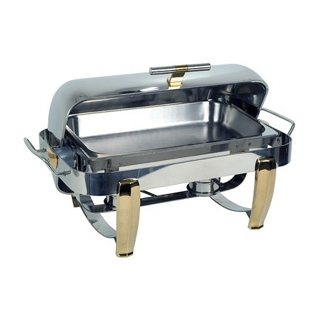 CHAFING DISH RECTANGULAR - ROLLTOP - DELUXE - 1