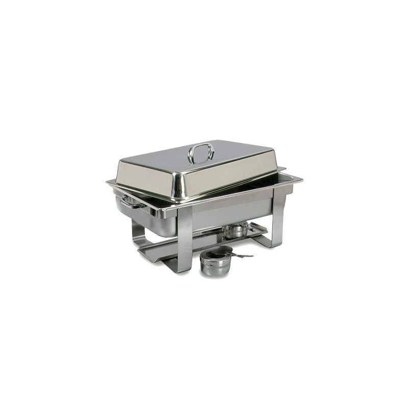 CHAFING DISH STAINLESS STEEL POLISHED (RECTANGULAR)