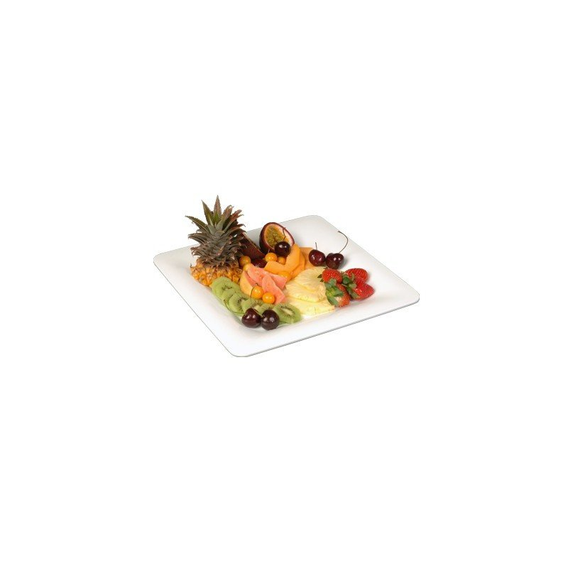 BUFFET PLATTER SQUARE PLATE  305 x 305mm  WHITE