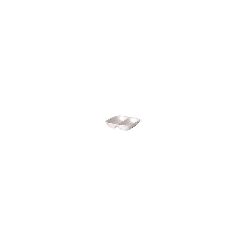 SQUARE 2 COMPT. DISH 8.5cm - 1