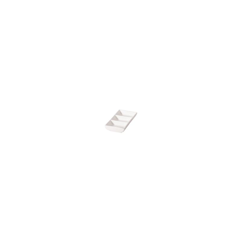 RECTANGLE 3 COMPT. DISH 12cm - 1