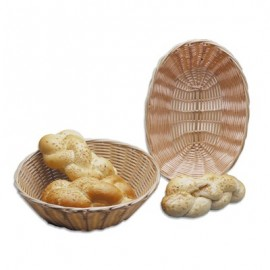 BREAD BASKET WOVEN PLASTIC OVAL  230 x 167mm