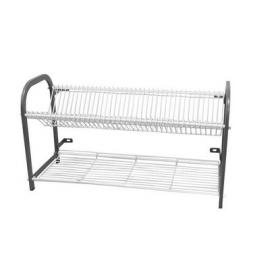 CROCKERY RACK WALL MOUNTED - 3 SHELF - 802mm (76 PLATES) - 1