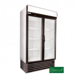 BEVERAGE COOLER DOUBLE HINGED DOOR - HD1140-LFS - 1