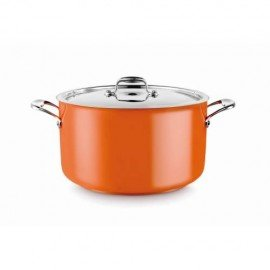 Casserole Pot (Orange) 14L W/Lid - 1