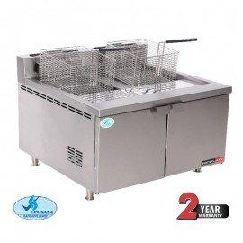 FISH FRYER ANVIL DOUBLE PAN 2 x 5LT - TABLE TOP & GAS - 1