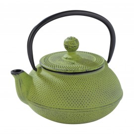 CAST IRON TEA POT [NIPON] (GREEN) 600ml - 1