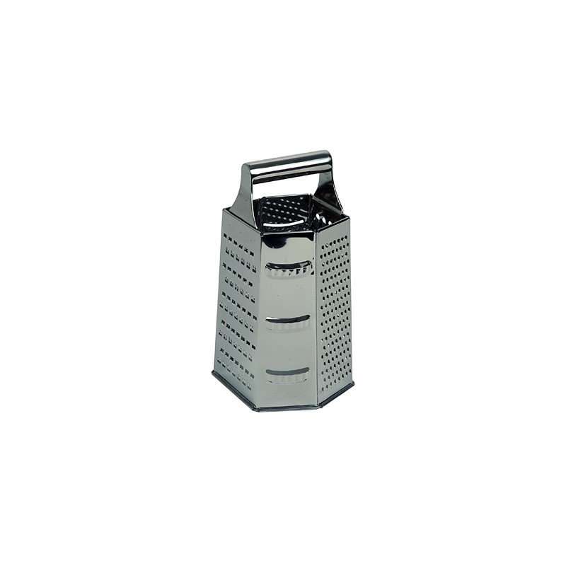 GRATER S/STEEL - 6 SIDED - 1