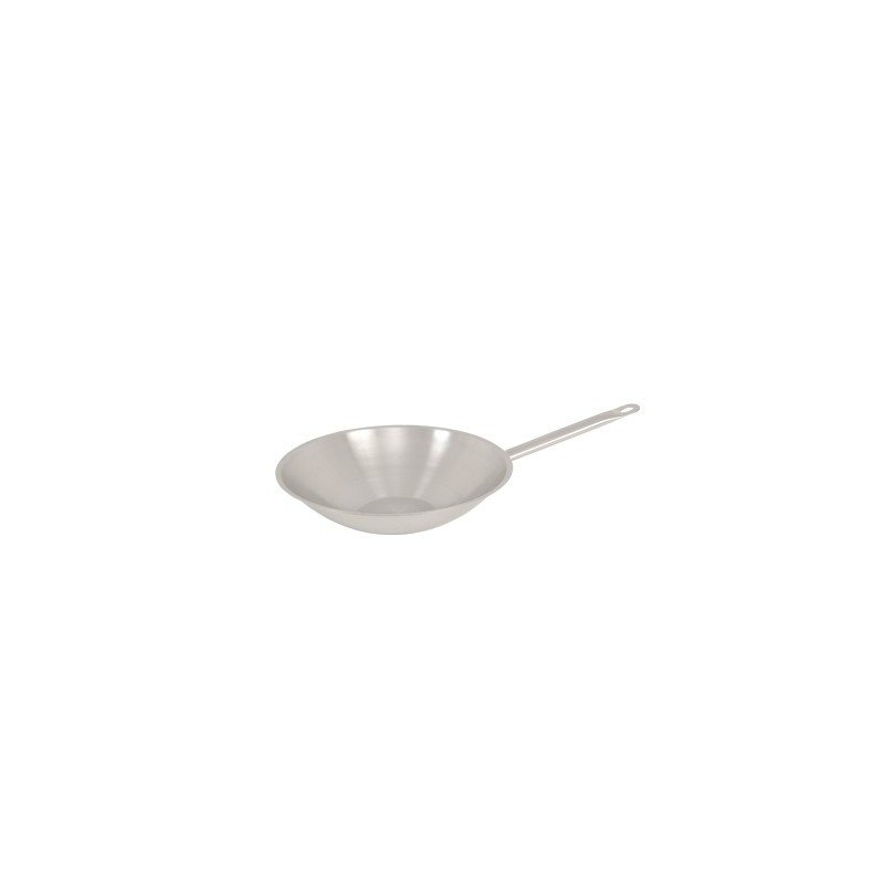 WOK ROUND FLAT BOTTOM S/STEEL - INFINITI - 360mm - 1