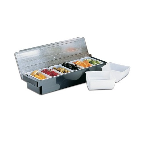 BAR CADDY DELUXE - 6 DIVISION (BLACK) - 1
