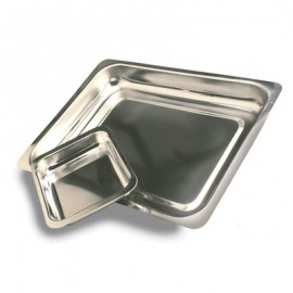 STEAK AND KIDNEY DISH S/STEEL - SK1 - 235 x 180 x 35mm - 1